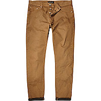 Light brown slim casual trousers