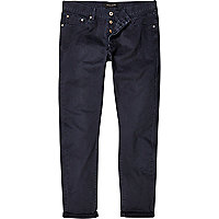 Navy slim casual trousers