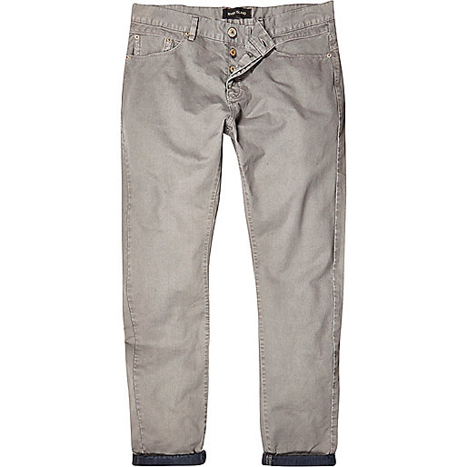 Grey slim casual trousers