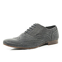 Grey wingtip brogues