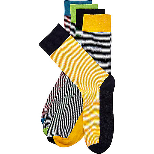 Mixed stripe socks pack