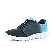 Navy ombre mesh trainers
