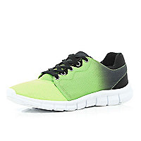 Lime ombre mesh trainers