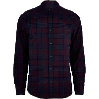 Purple tartan long sleeve shirt