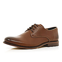 Brown leather smart lace up shoes