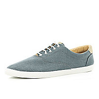 Grey denim plimsolls
