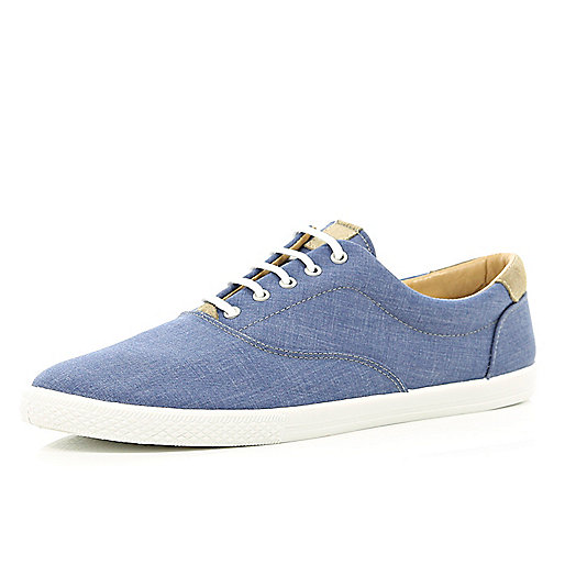 Blue denim plimsolls