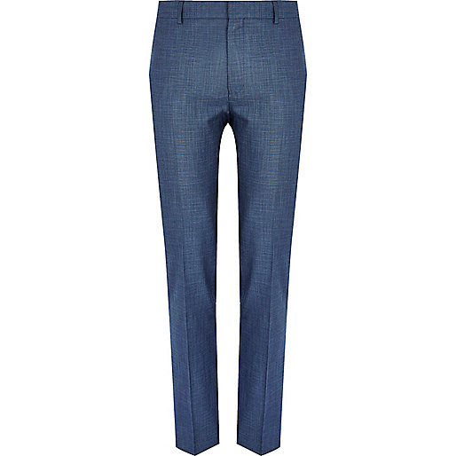 Blue smart skinny trousers