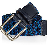 Navy webbed belt