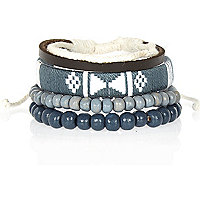 Grey aztec bracelet pack
