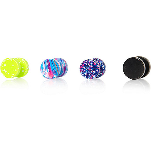 Mixed plug earrings pack