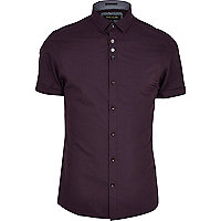 Dark purple short sleeve shirt