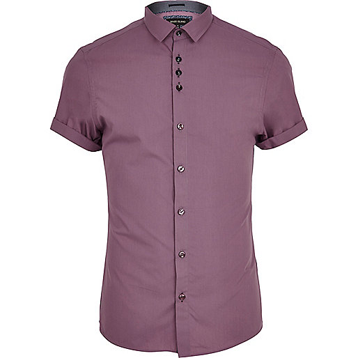 Dark lilac short sleeve shirt