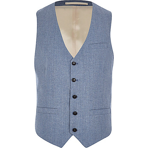 Light blue single breasted vest