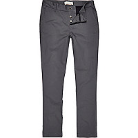 Grey skinny stretch chinos