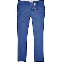 Blue skinny stretch chinos