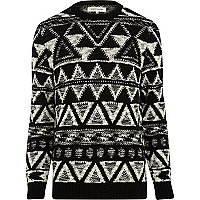 Black and white aztec jumper