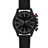 Black textured watch