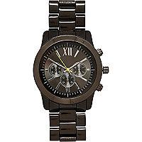 Gunmetal tone chunky bracelet watch
