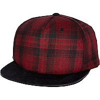 Red tartan trucker hat