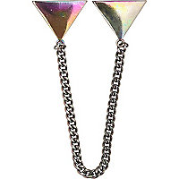 Grey metal collar chain