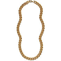 Gold tone curb chain necklace