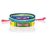 Multicoloured bracelets pack