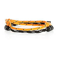 Orange and black bungee cord bracelet pack