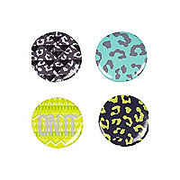 Mixed print badges pack
