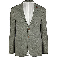 Green silk blazer