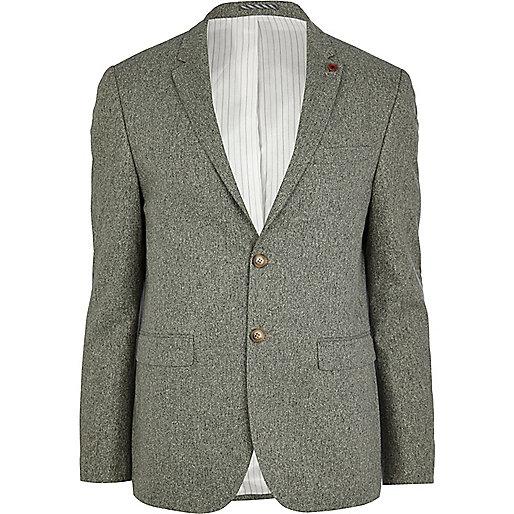 Green silk blazer