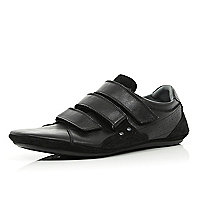 Black velcro slim trainers