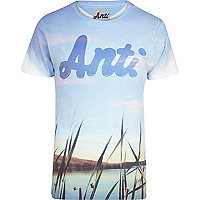 Blue Anticulture scenery print t-shirt