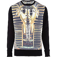 Yellow Anticulture pharaoh print sweatshirt