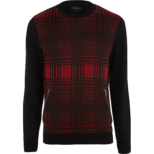 Red check sweatshirt
