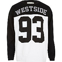 Black Westside 93 print sweatshirt