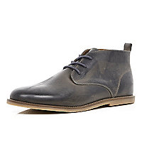 Dark grey chukka boots