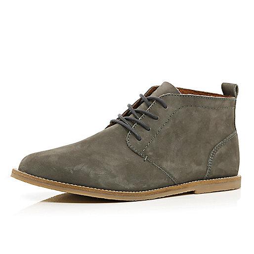 Grey nubuck chukka boots
