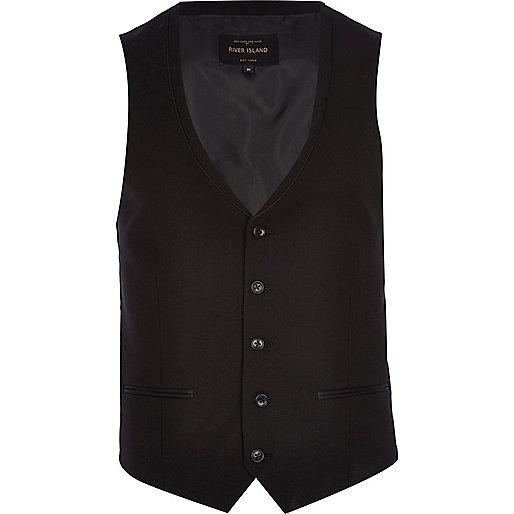 Black tuxedo vest