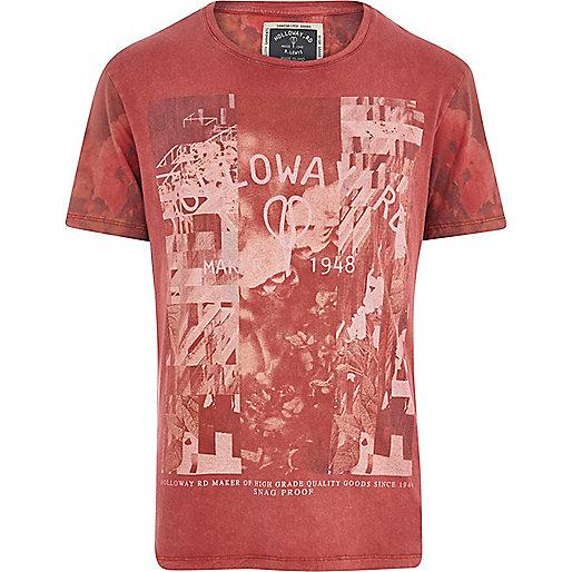 Red Holloway Road acid logo print t-shirt