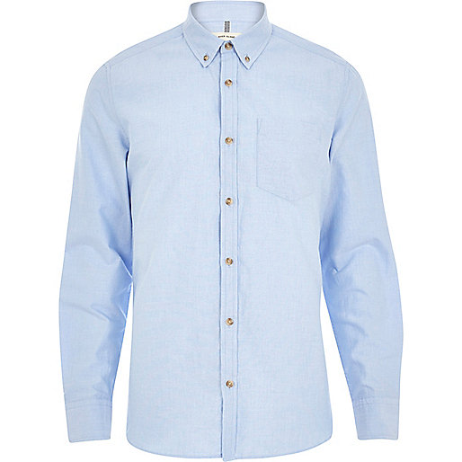 Light blue long sleeve Oxford shirt