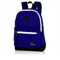 Blue neoprene backpack