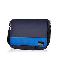 Navy two-tone flap over bag