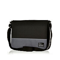 Black two-tone flap over bag