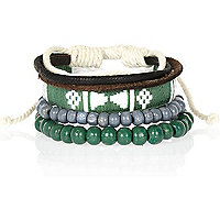 Green aztec bracelet pack