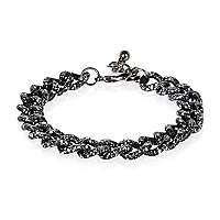 Black paint splat curb chain bracelet