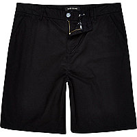 Black relaxed skater shorts