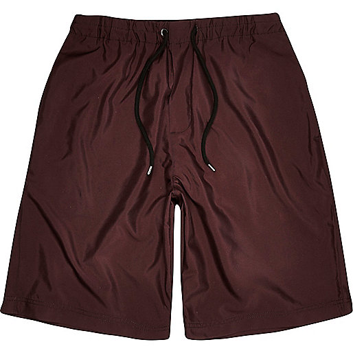 Burgundy long shorts