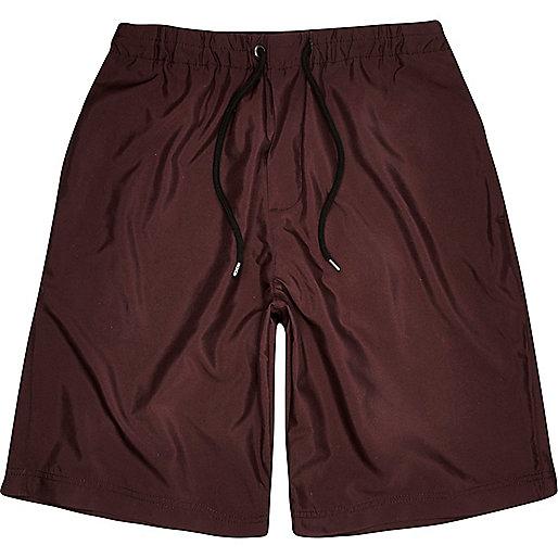 Burgundy long shorts