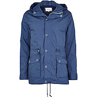 Blue casual parka jacket
